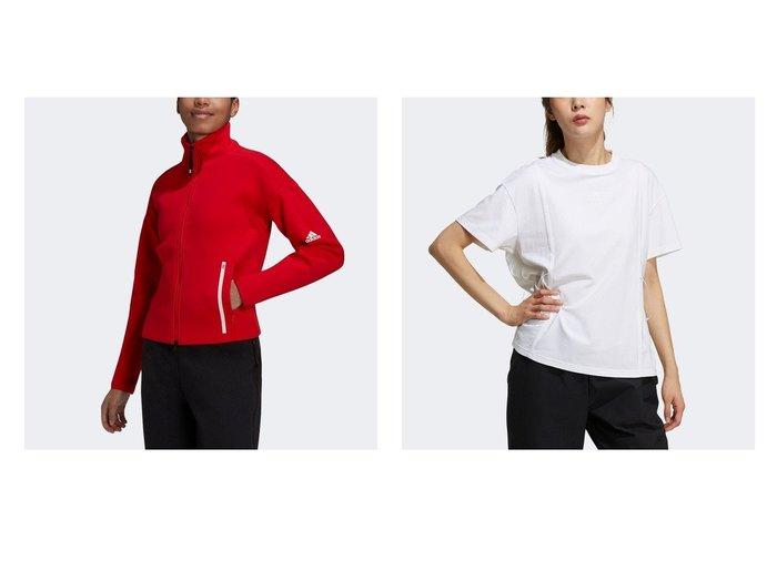 【adidas/アディダス】のアディダス Z.N.E. スポーツウェア トラックトップ&テック リボン 半袖Tシャツ Tech Ribbon Tee おすすめ!人気、トレンド・レディースファッションの通販   おすすめ人気トレンドファッション通販アイテム 人気、トレンドファッション・服の通販 founy(ファニー) ファッション Fashion レディースファッション WOMEN スポーツウェア Sportswear トップス・カットソー Tops/Tshirt シャツ/ブラウス Shirts/Blouses ロング / Tシャツ T-Shirts ジャケット スタンド ストレッチ スポーツ ダブル ファブリック フィット レギュラー A/W・秋冬 AW・Autumn/Winter・FW・Fall-Winter 2021年 2021 2021-2022秋冬・A/W AW・Autumn/Winter・FW・Fall-Winter・2021-2022 ジャージー リボン ルーズ 半袖  ID:crp329100000058926