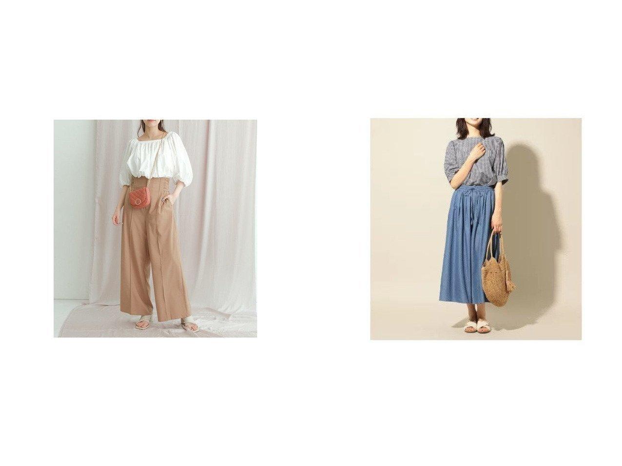 【Mystrada/マイストラーダ】のバックリボンワイドパンツ&【any FAM/エニィファム】のナチュラルドライワッシャー パンツ 【パンツ】おすすめ!人気、トレンド・レディースファッションの通販 おすすめで人気の流行・トレンド、ファッションの通販商品 インテリア・家具・メンズファッション・キッズファッション・レディースファッション・服の通販 founy(ファニー) https://founy.com/ ファッション Fashion レディースファッション WOMEN パンツ Pants NEW・新作・新着・新入荷 New Arrivals センター ワイド おすすめ Recommend サンダル シンプル デニム 夏 Summer  ID:crp329100000059128
