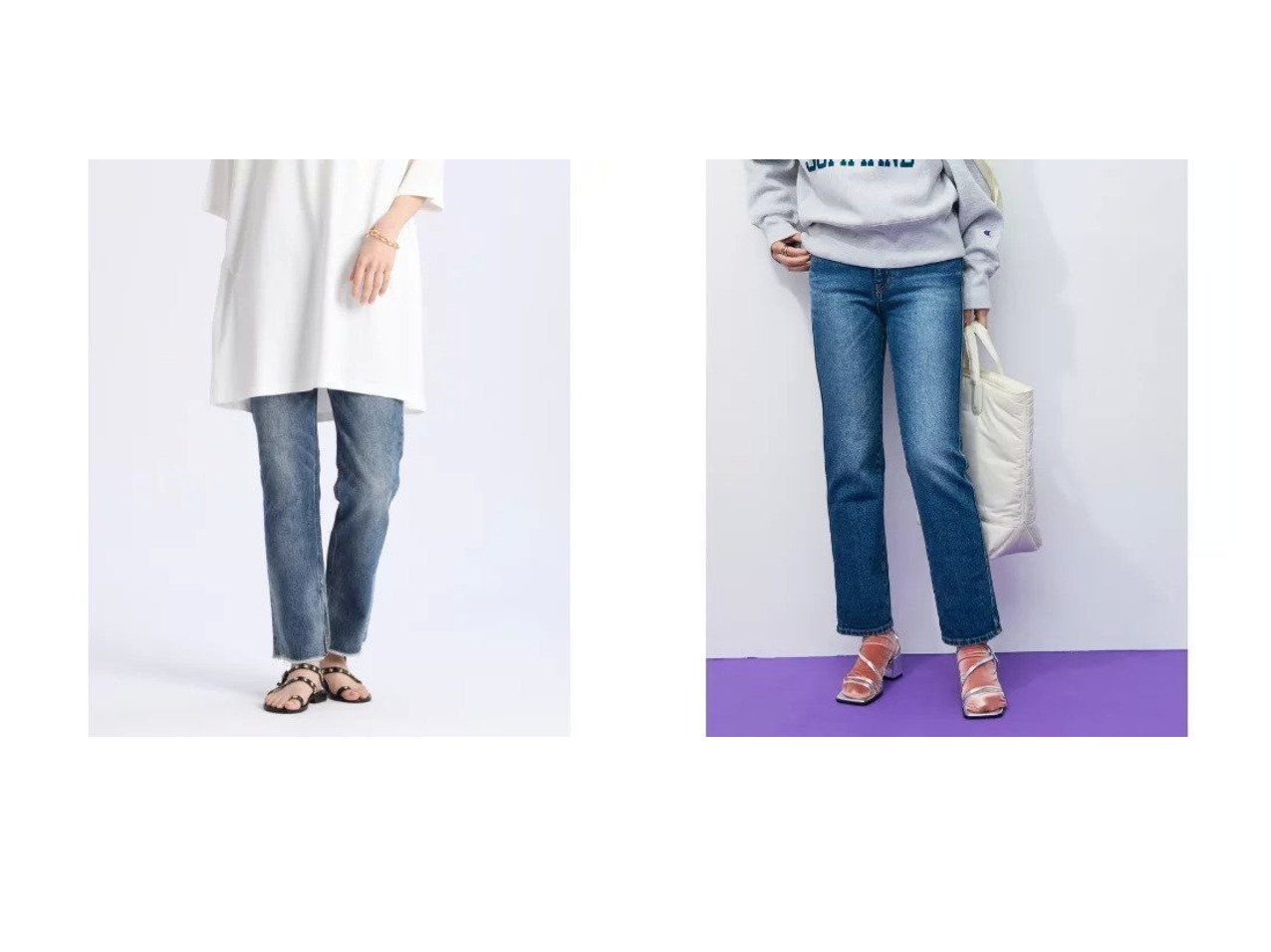 【ADAM ET ROPE'/アダム エ ロペ】の【WEB限定】ストレッチカラーデニムパンツ&【INED/イネド】の《Luftrobe》ストレートスリットデニム《Healthy DENIM》 【パンツ】おすすめ!人気、トレンド・レディースファッションの通販 おすすめで人気の流行・トレンド、ファッションの通販商品 インテリア・家具・メンズファッション・キッズファッション・レディースファッション・服の通販 founy(ファニー) https://founy.com/ ファッション Fashion レディースファッション WOMEN パンツ Pants デニムパンツ Denim Pants ウォッシュ シンプル ストレート スリット デニム トレンド フィット フォルム マニッシュ ヴィンテージ 定番 Standard ストレッチ スリム ツイル バランス ポケット A/W・秋冬 AW・Autumn/Winter・FW・Fall-Winter 2021年 2021 2021-2022秋冬・A/W AW・Autumn/Winter・FW・Fall-Winter・2021-2022 おすすめ Recommend  ID:crp329100000059136