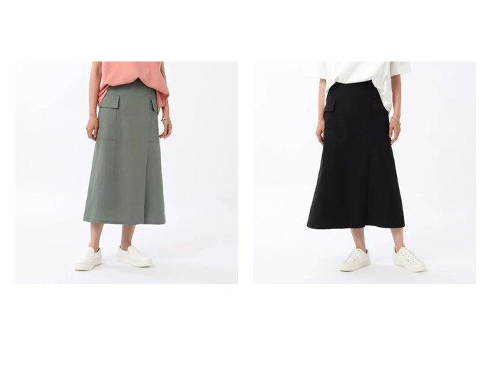 【UNTITLED/アンタイトル】のリネン混カーゴスカート 【パンツ】おすすめ!人気、トレンド・レディースファッションの通販 おすすめ人気トレンドファッション通販アイテム インテリア・キッズ・メンズ・レディースファッション・服の通販 founy(ファニー) https://founy.com/ ファッション Fashion レディースファッション WOMEN スカート Skirt カーゴパンツ トレンド ポケット ミリタリー リネン リラックス ワーク |ID:crp329100000059140
