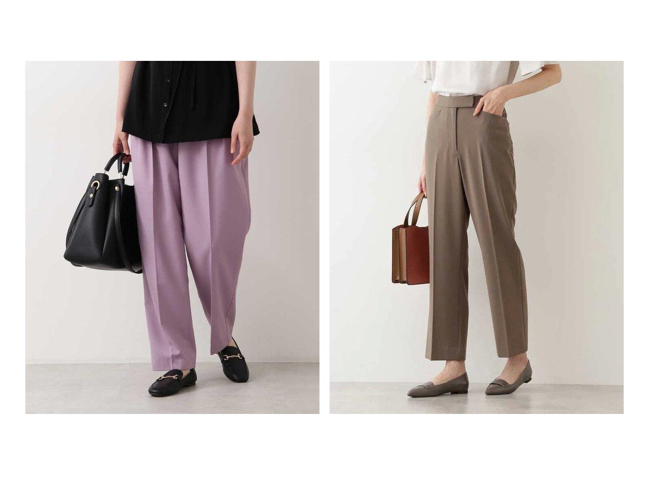 【NATURAL BEAUTY BASIC/ナチュラル ビューティー ベーシック】の洗える エッグシルエットパンツ&セミフレアパンツ 【パンツ】おすすめ!人気、トレンド・レディースファッションの通販 おすすめで人気の流行・トレンド、ファッションの通販商品 インテリア・家具・メンズファッション・キッズファッション・レディースファッション・服の通販 founy(ファニー) https://founy.com/ ファッション Fashion レディースファッション WOMEN パンツ Pants センター ダブル 洗える トレンド フィット |ID:crp329100000059149