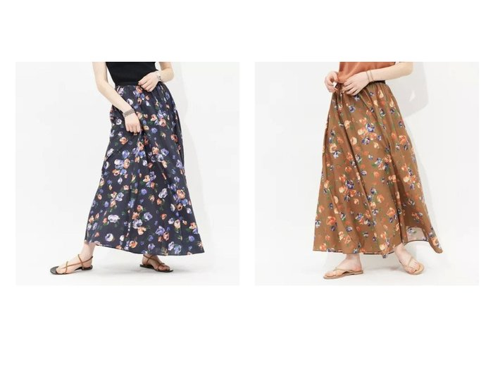 【Rouge vif/ルージュ ヴィフ】のドローイングフラワースカート 【スカート】おすすめ!人気、トレンド・レディースファッションの通販 おすすめ人気トレンドファッション通販アイテム インテリア・キッズ・メンズ・レディースファッション・服の通販 founy(ファニー) https://founy.com/ ファッション Fashion レディースファッション WOMEN スカート Skirt おすすめ Recommend エアリー バランス フラワー フレア プリント マキシ ロング 夏 Summer 楽ちん |ID:crp329100000059242