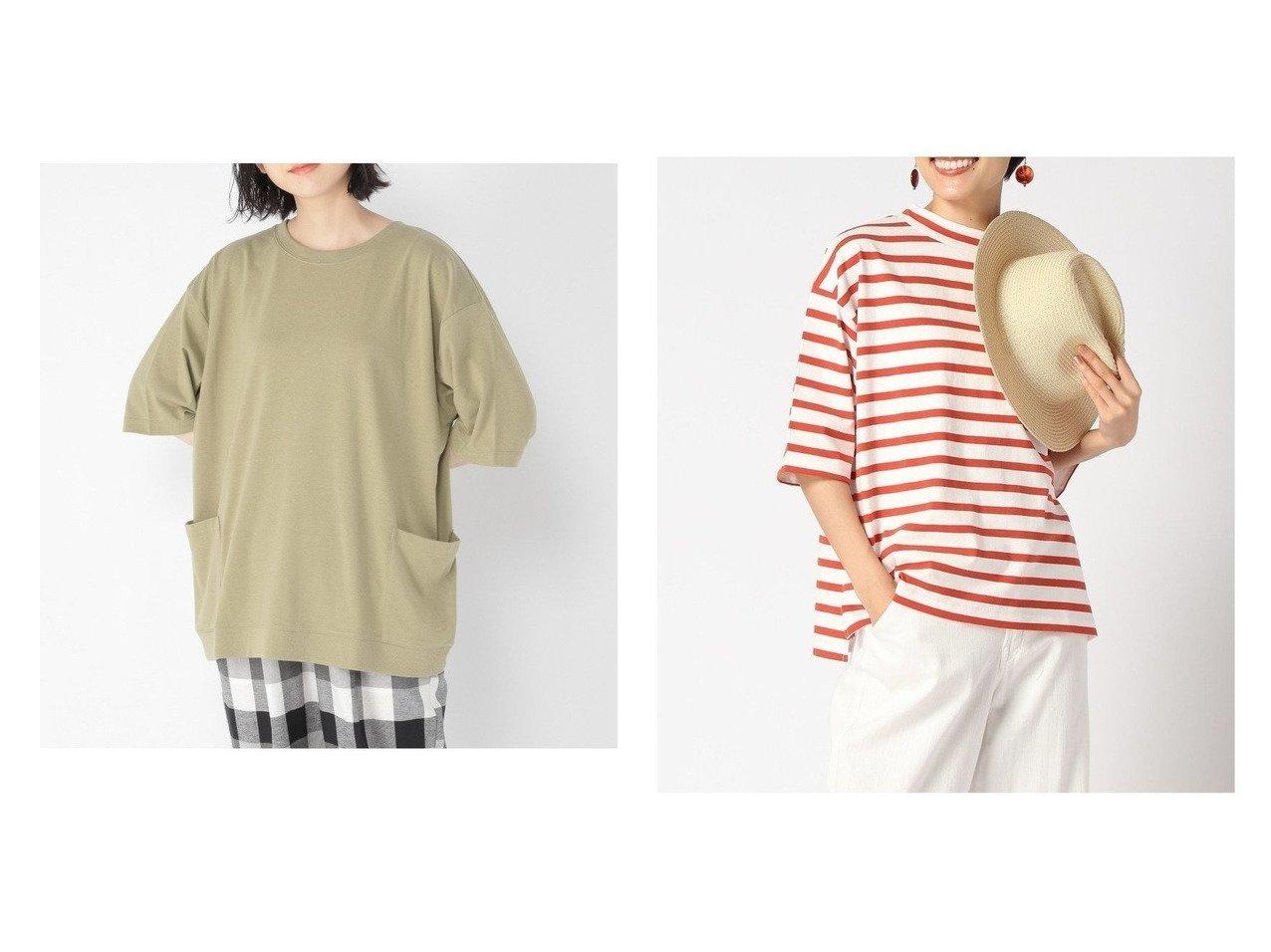 【studio CLIP/スタディオ クリップ】のキノウツキサイドPKT&【niko and…/ニコアンド】のUSACハイネックボーダーT 【プチプライス・低価格】おすすめ!人気、トレンド・レディースファッションの通販 おすすめで人気の流行・トレンド、ファッションの通販商品 インテリア・家具・メンズファッション・キッズファッション・レディースファッション・服の通販 founy(ファニー) https://founy.com/ ファッション Fashion レディースファッション WOMEN トップス・カットソー Tops/Tshirt シャツ/ブラウス Shirts/Blouses ロング / Tシャツ T-Shirts カットソー Cut and Sewn NEW・新作・新着・新入荷 New Arrivals カットソー ハイネック ボーダー |ID:crp329100000059403