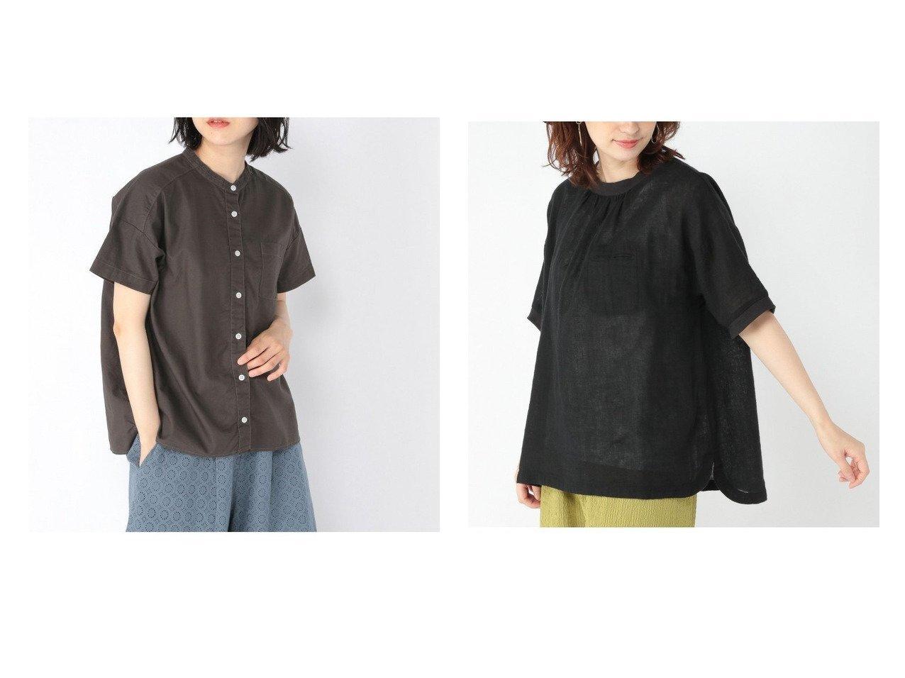 【studio CLIP/スタディオ クリップ】のセイヒンゾメオックスSH&リネンコンガーゼリブBL 【プチプライス・低価格】おすすめ!人気、トレンド・レディースファッションの通販 おすすめで人気の流行・トレンド、ファッションの通販商品 インテリア・家具・メンズファッション・キッズファッション・レディースファッション・服の通販 founy(ファニー) https://founy.com/ ファッション Fashion レディースファッション WOMEN トップス・カットソー Tops/Tshirt シャツ/ブラウス Shirts/Blouses NEW・新作・新着・新入荷 New Arrivals 半袖 |ID:crp329100000059405