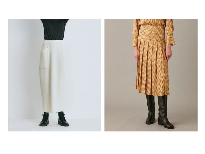 【ATON/エイトン】のWORSTED WOOL CODE リブフィットスカート&【JOSEPH/ジョゼフ】の【洗える】シェブロンプリント スカート 【スカート】おすすめ!人気、トレンド・レディースファッションの通販 おすすめ人気トレンドファッション通販アイテム インテリア・キッズ・メンズ・レディースファッション・服の通販 founy(ファニー) https://founy.com/ ファッション Fashion レディースファッション WOMEN スカート Skirt プリーツスカート Pleated Skirts 送料無料 Free Shipping フィット 定番 Standard イタリア シルク ツイル プリント プリーツ ヨーク 洗える  ID:crp329100000059714