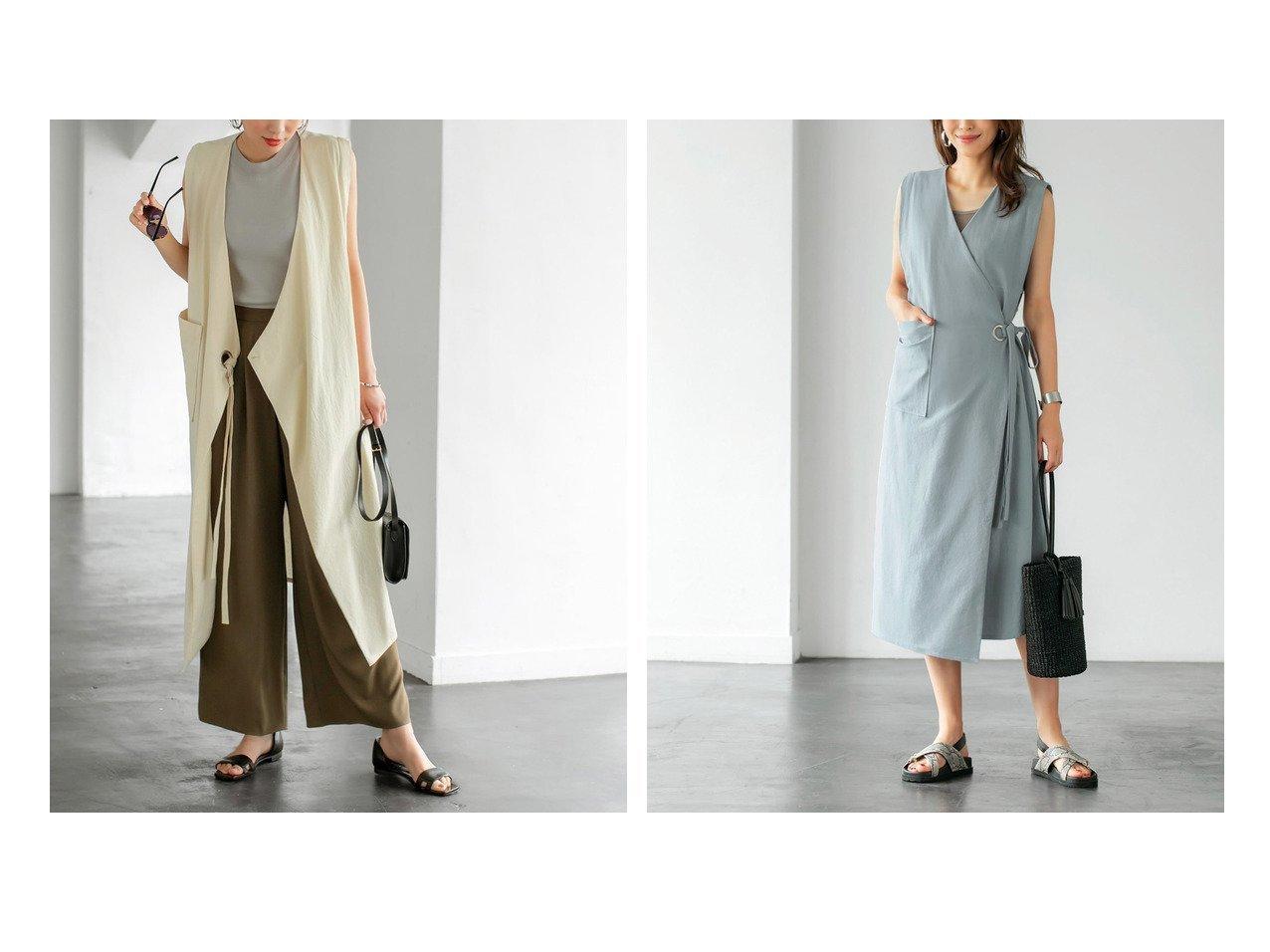 【STYLE DELI/スタイルデリ】のベストにもなるラップワンピース 【アウター】おすすめ!人気、トレンド・レディースファッションの通販 おすすめで人気の流行・トレンド、ファッションの通販商品 インテリア・家具・メンズファッション・キッズファッション・レディースファッション・服の通販 founy(ファニー) https://founy.com/ ファッション Fashion レディースファッション WOMEN アウター Coat Outerwear イエロー インナー カシュクール カットソー シルバー スリット タンク デニム パッチ ベスト ペチコート ポケット 半袖 ラップ リボン レギンス 再入荷 Restock/Back in Stock/Re Arrival |ID:crp329100000059748