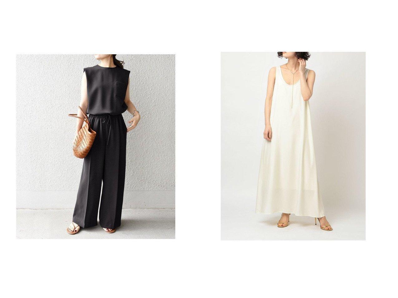 【ETRE TOKYO/エトレトウキョウ】のバックテールタンクワンピース&【SHIPS/シップス フォー ウィメン】のポケットサロペット 【ワンピース・ドレス】おすすめ!人気、トレンド・レディースファッションの通販 おすすめで人気の流行・トレンド、ファッションの通販商品 インテリア・家具・メンズファッション・キッズファッション・レディースファッション・服の通販 founy(ファニー) https://founy.com/ ファッション Fashion レディースファッション WOMEN ワンピース Dress サロペット Salopette サロペット 夏 Summer とろみ シンプル タンク ダウン  ID:crp329100000059766