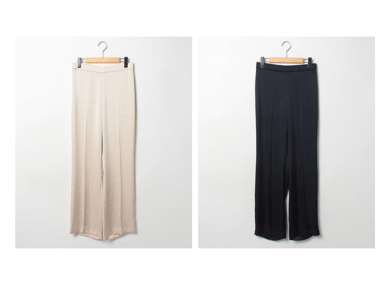 【theory/セオリー】のパンツ CRUSHED SATIN ST PULL ON 【パンツ】おすすめ!人気、トレンド・レディースファッションの通販 おすすめで人気の流行・トレンド、ファッションの通販商品 インテリア・家具・メンズファッション・キッズファッション・レディースファッション・服の通販 founy(ファニー) https://founy.com/ ファッション Fashion レディースファッション WOMEN パンツ Pants NEW・新作・新着・新入荷 New Arrivals なめらか サテン シンプル ストレート ドレープ フィット  ID:crp329100000059820