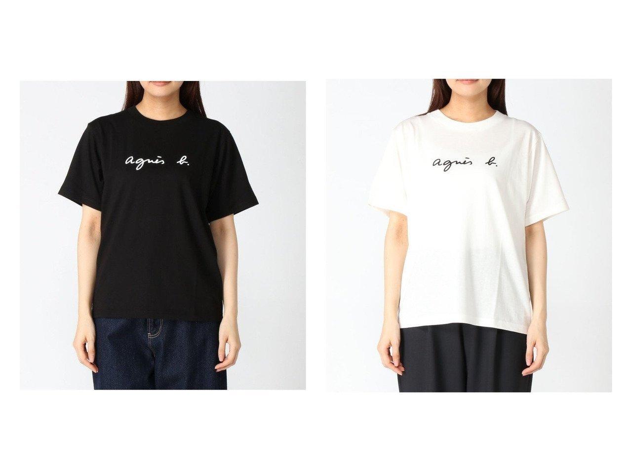 【agnes b. FEMME/アニエスベー ファム】のagnes b.S137 ロゴTシャツ おすすめ!人気、トレンド・レディースファッションの通販 おすすめで人気の流行・トレンド、ファッションの通販商品 インテリア・家具・メンズファッション・キッズファッション・レディースファッション・服の通販 founy(ファニー) https://founy.com/ ファッション Fashion レディースファッション WOMEN トップス・カットソー Tops/Tshirt シャツ/ブラウス Shirts/Blouses ロング / Tシャツ T-Shirts カットソー Cut and Sewn NEW・新作・新着・新入荷 New Arrivals おすすめ Recommend カットソー シンプル ビッグ 半袖 |ID:crp329100000059894