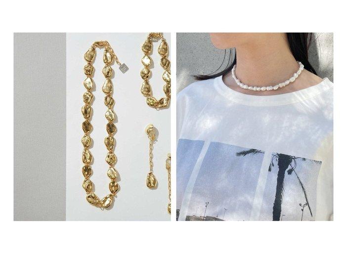 【nano universe/ナノ ユニバース】のMetal Baroque Pearl Choker&【NOBLE / Spick & Span/ノーブル / スピック&スパン】の《》【UCALYPT】 バロックパールネックレス(32cm) おすすめ!人気、トレンド・レディースファッションの通販 おすすめ人気トレンドファッション通販アイテム インテリア・キッズ・メンズ・レディースファッション・服の通販 founy(ファニー) https://founy.com/ ファッション Fashion レディースファッション WOMEN ジュエリー Jewelry ネックレス Necklaces アクセサリー 巾着 シルバー チャーム ネックレス フォルム 帽子 メタル モダン リュクス 日本製 Made in Japan |ID:crp329100000059931