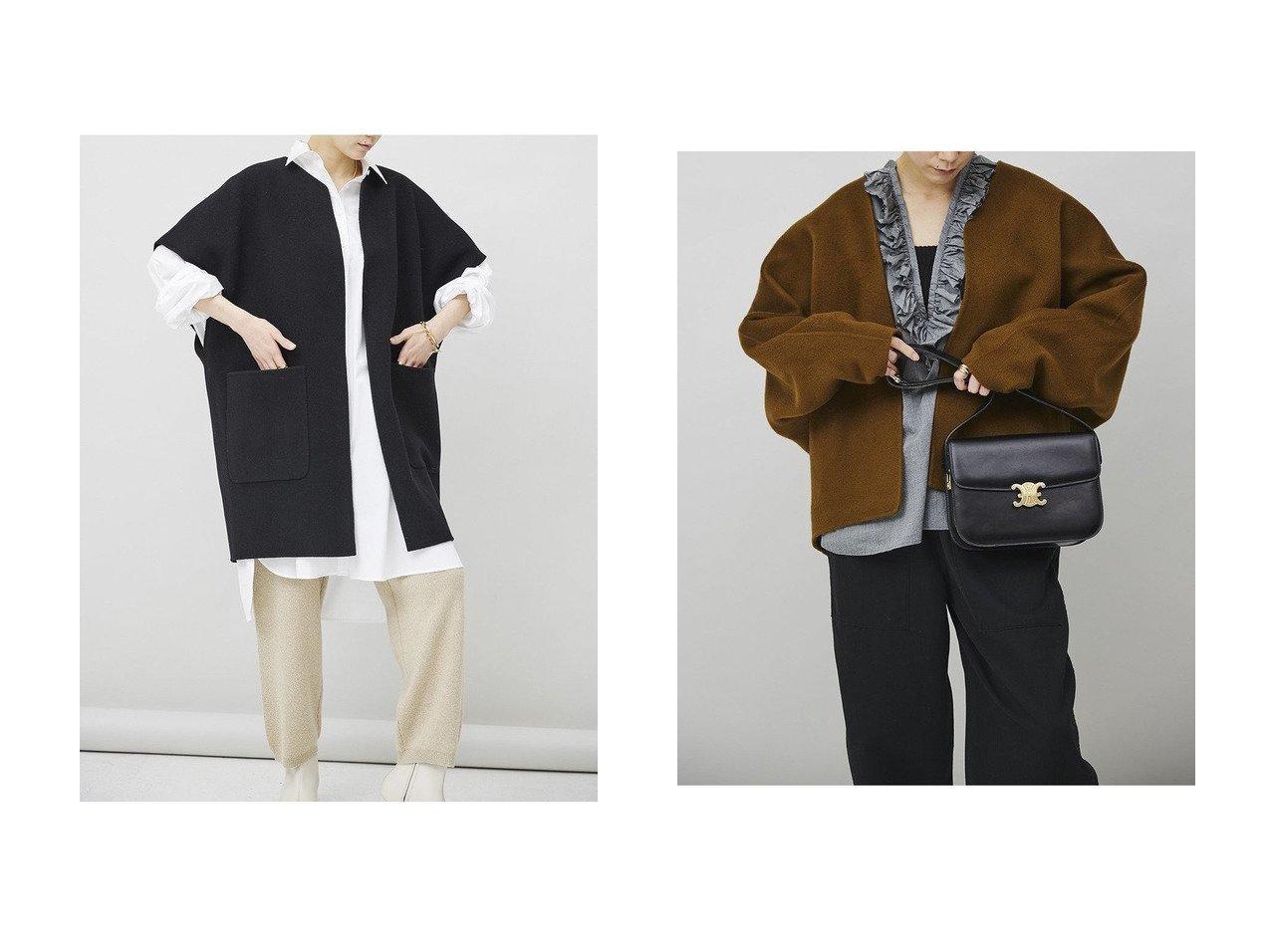 【Curensology/カレンソロジー】のマンテコノースリーブコート&【C.S.G】カシミヤショートコート 【アウター】おすすめ!人気、トレンド・レディースファッションの通販 おすすめで人気の流行・トレンド、ファッションの通販商品 インテリア・家具・メンズファッション・キッズファッション・レディースファッション・服の通販 founy(ファニー) https://founy.com/ ファッション Fashion レディースファッション WOMEN アウター Coat Outerwear コート Coats 2020年 2020 2020-2021秋冬・A/W AW・Autumn/Winter・FW・Fall-Winter/2020-2021 2021年 2021 2021-2022秋冬・A/W AW・Autumn/Winter・FW・Fall-Winter・2021-2022 A/W・秋冬 AW・Autumn/Winter・FW・Fall-Winter イタリア インナー シンプル ノースリーブ ビッグ ポケット ロング 今季 おすすめ Recommend カシミヤ ショート タートルネック フリル リラックス  ID:crp329100000059970