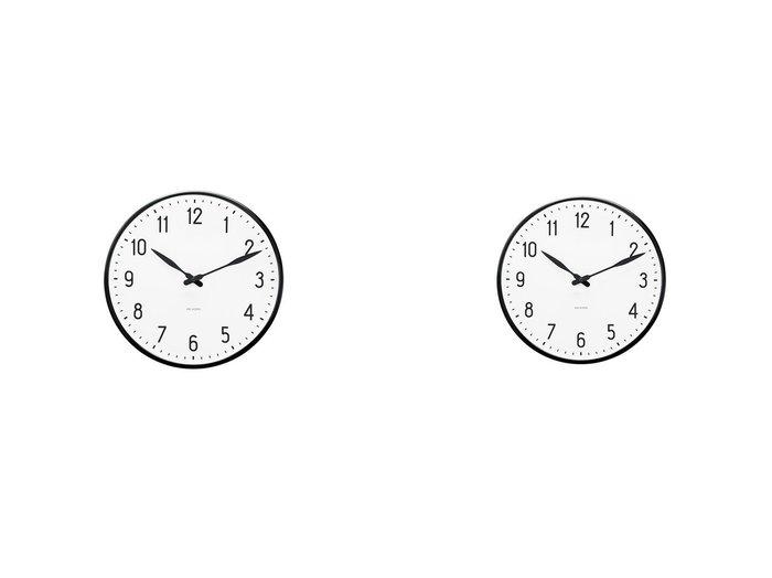 【FLYMEe accessoire/フライミーアクセソワ】のアルネ・ヤコブセン ステーション ウォールクロック 直径29cm&アルネ・ヤコブセン ステーション ウォールクロック 直径21cm 【FURNITURE】おすすめ!人気、インテリア雑貨・家具の通販 おすすめ人気トレンドファッション通販アイテム インテリア・キッズ・メンズ・レディースファッション・服の通販 founy(ファニー) https://founy.com/ ガラス コレクション シンプル スタンダード テーブル 時計 モダン 送料無料 Free Shipping  ID:crp329100000060068