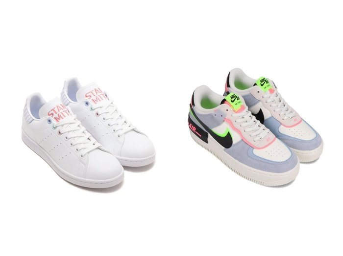 【NIKE/ナイキ】のNIKE W AF1 SHADOW&【adidas/アディダス】のadidas STAN SMITH W 【シューズ・靴】おすすめ!人気、トレンド・レディースファッションの通販 おすすめ人気トレンドファッション通販アイテム 人気、トレンドファッション・服の通販 founy(ファニー) ファッション Fashion レディースファッション WOMEN NEW・新作・新着・新入荷 New Arrivals シューズ スニーカー スリッポン |ID:crp329100000060161