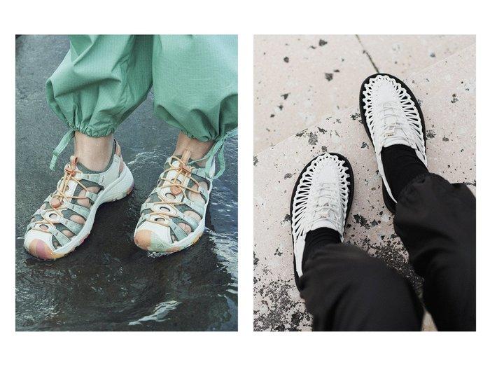【KEEN/キーン】の(WOMEN)ASTORIA WEST SANDAL&(WOMEN)UNEEK 【シューズ・靴】おすすめ!人気、トレンド・レディースファッションの通販 おすすめ人気トレンドファッション通販アイテム インテリア・キッズ・メンズ・レディースファッション・服の通販 founy(ファニー) https://founy.com/ ファッション Fashion レディースファッション WOMEN クッション 軽量 サンダル シューズ タオル フィット フェミニン ミュール ライニング コレクション スニーカー ラウンド  ID:crp329100000060163