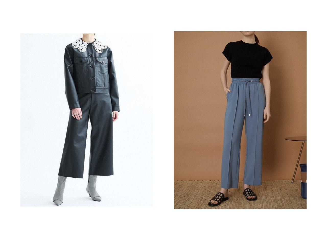 【RIM.ARK/リムアーク】のイージーパンツ&【LANVIN en Bleu/ランバン オン ブルー】のフェイクレザークロップドパンツ 【パンツ】おすすめ!人気、トレンド・レディースファッションの通販 おすすめで人気の流行・トレンド、ファッションの通販商品 インテリア・家具・メンズファッション・キッズファッション・レディースファッション・服の通販 founy(ファニー) https://founy.com/ ファッション Fashion レディースファッション WOMEN パンツ Pants オーガニック ショルダー ストレート フェミニン フロント ポケット ワイド おすすめ Recommend キュプラ センター ツイル リボン リラックス  ID:crp329100000060197