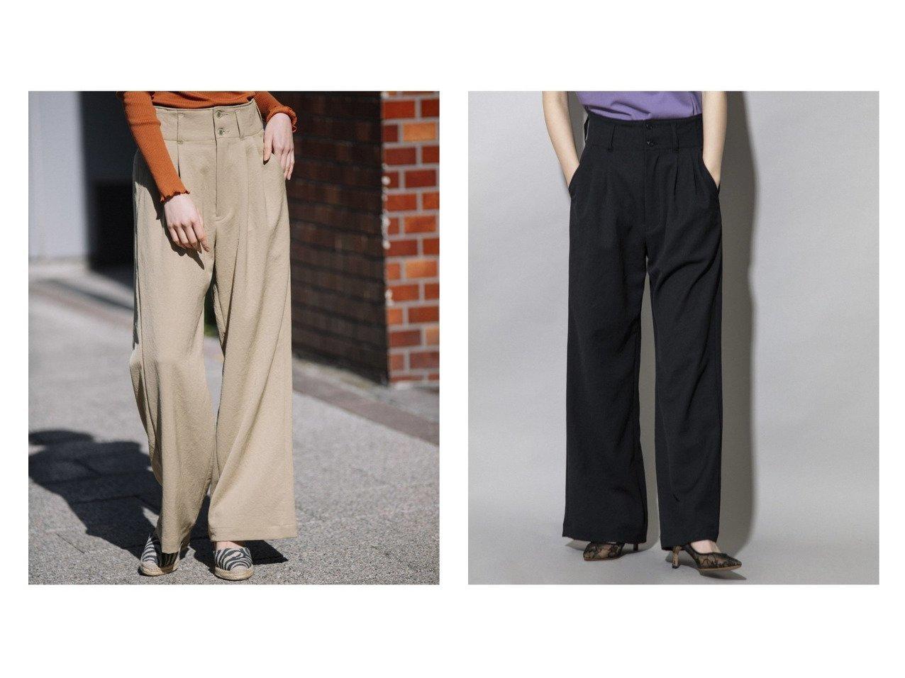 【Munich/ミューニック】のトリアセテートファイバーオックス タックワイドパンツ 【パンツ】おすすめ!人気、トレンド・レディースファッションの通販 おすすめで人気の流行・トレンド、ファッションの通販商品 インテリア・家具・メンズファッション・キッズファッション・レディースファッション・服の通販 founy(ファニー) https://founy.com/ ファッション Fashion レディースファッション WOMEN パンツ Pants オックス 吸水 ジーンズ ストレッチ デニム ワイド おすすめ Recommend 夏 Summer  ID:crp329100000060212