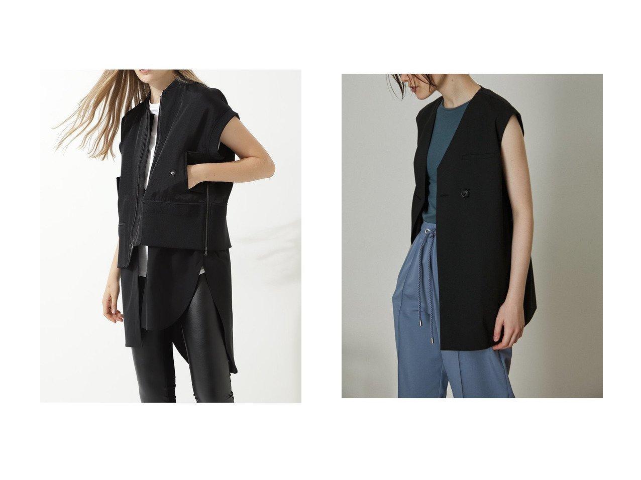 【LE PHIL/ル フィル】のノースリーブボンバージャケット&【RIM.ARK/リムアーク】のジレ 【アウター】おすすめ!人気、トレンド・レディースファッションの通販 おすすめで人気の流行・トレンド、ファッションの通販商品 インテリア・家具・メンズファッション・キッズファッション・レディースファッション・服の通販 founy(ファニー) https://founy.com/ ファッション Fashion レディースファッション WOMEN アウター Coat Outerwear ジャケット Jackets アシンメトリー ジャケット ベスト ボックス メランジ 2020年 2020 2020-2021秋冬・A/W AW・Autumn/Winter・FW・Fall-Winter/2020-2021 2021年 2021 2021-2022秋冬・A/W AW・Autumn/Winter・FW・Fall-Winter・2021-2022 A/W・秋冬 AW・Autumn/Winter・FW・Fall-Winter インナー サテン シルク シンプル ノースリーブ ブライト |ID:crp329100000060278