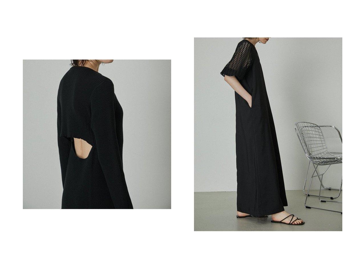 【RIM.ARK/リムアーク】のワンピース&ワンピース 【ワンピース・ドレス】おすすめ!人気、トレンド・レディースファッションの通販 おすすめ人気トレンドファッション通販アイテム インテリア・キッズ・メンズ・レディースファッション・服の通販 founy(ファニー)  ファッション Fashion レディースファッション WOMEN ワンピース Dress ドレス Party Dresses チュニック Tunic エレガント カッティング チュニック バランス フレア マキシ ロング ブラック系 Black |ID:crp329100000060287
