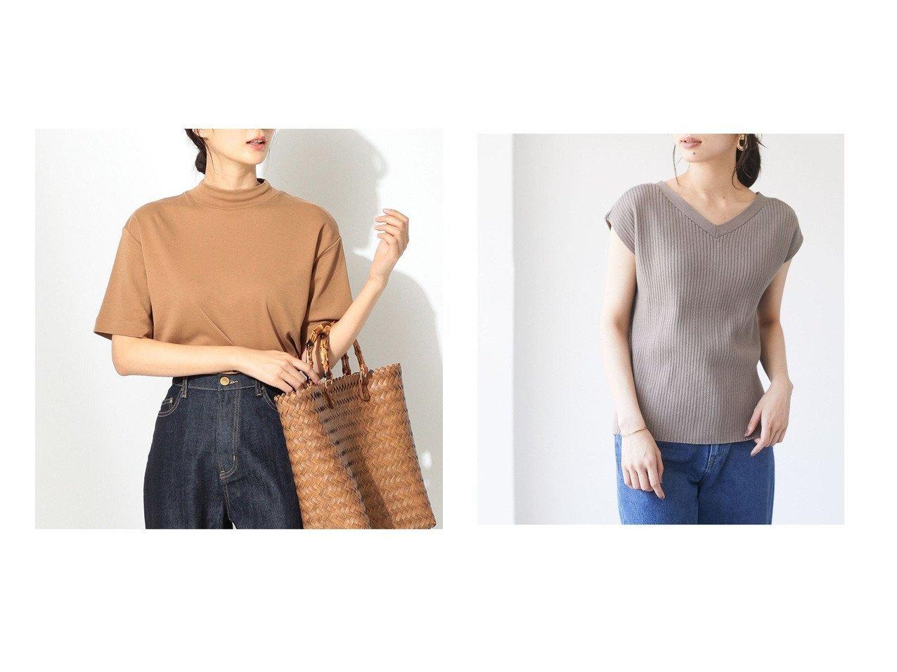 【Green Parks/グリーンパークス】の・SUGAR SPOON 2wayフレンチコットンニット&【any FAM/エニィファム】のプレミアムベーシックモックネック Tシャツ 【プチプライス・低価格】おすすめ!人気、トレンド・レディースファッションの通販 おすすめで人気の流行・トレンド、ファッションの通販商品 インテリア・家具・メンズファッション・キッズファッション・レディースファッション・服の通販 founy(ファニー) https://founy.com/ ファッション Fashion レディースファッション WOMEN トップス・カットソー Tops/Tshirt ニット Knit Tops シャツ/ブラウス Shirts/Blouses ロング / Tシャツ T-Shirts カットソー Cut and Sewn 送料無料 Free Shipping おすすめ Recommend シンプル セーター 秋 Autumn/Fall カットソー シルク デニム 定番 Standard プリント 羽織 モックネック ロング 2021年 2021 S/S・春夏 SS・Spring/Summer 2021春夏・S/S SS/Spring/Summer/2021 夏 Summer  ID:crp329100000060367