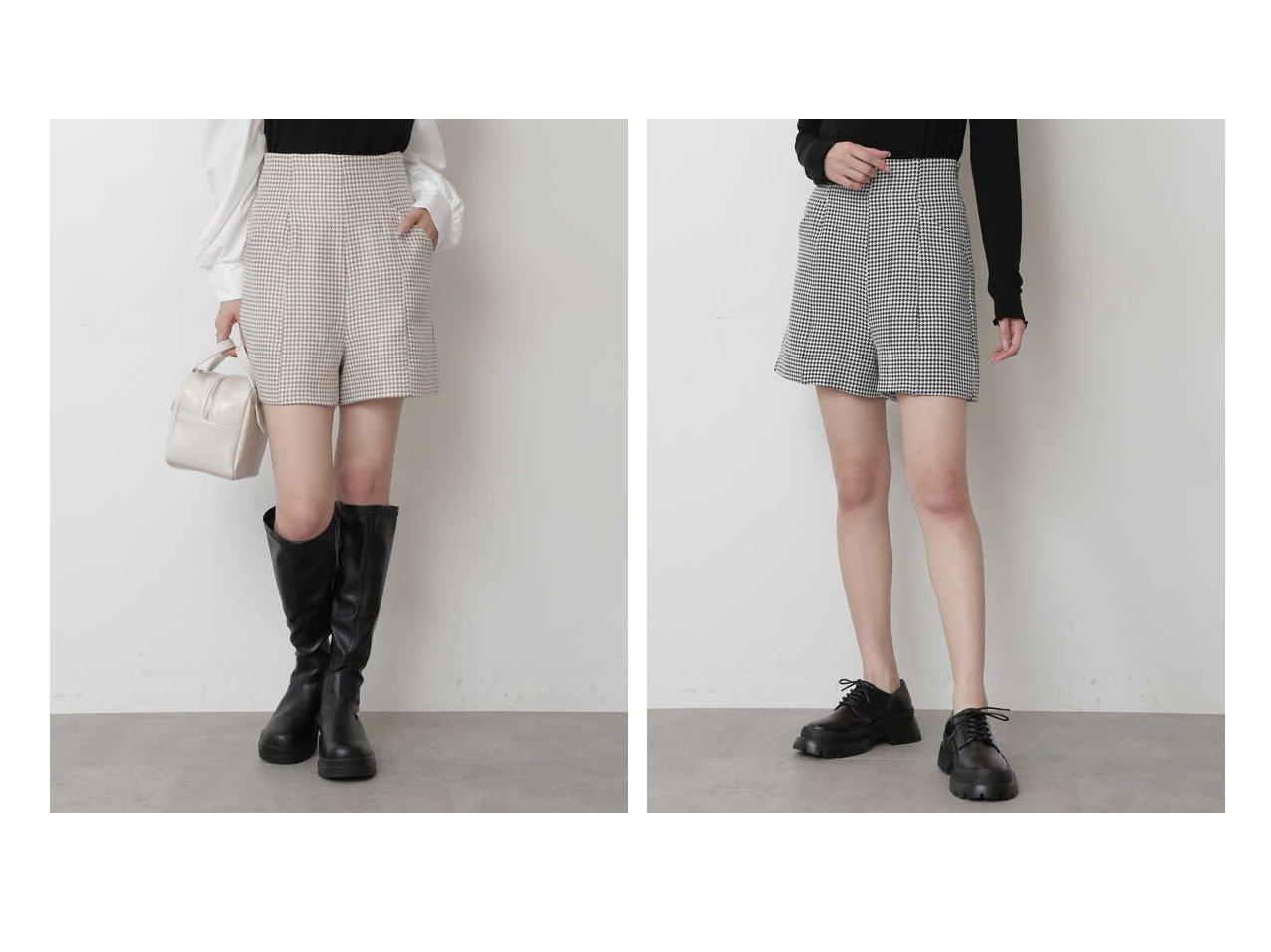 【FREE'S MART/フリーズマート】の《Sシリーズ対応商品》ハイウエスト千鳥柄ショートパンツ 【プチプライス・低価格】おすすめ!人気、トレンド・レディースファッションの通販 おすすめで人気の流行・トレンド、ファッションの通販商品 インテリア・家具・メンズファッション・キッズファッション・レディースファッション・服の通販 founy(ファニー) https://founy.com/ ファッション Fashion レディースファッション WOMEN パンツ Pants ハーフ / ショートパンツ Short Pants A/W・秋冬 AW・Autumn/Winter・FW・Fall-Winter クラシック ショート シンプル ペプラム ミドル ロング 人気  ID:crp329100000060400