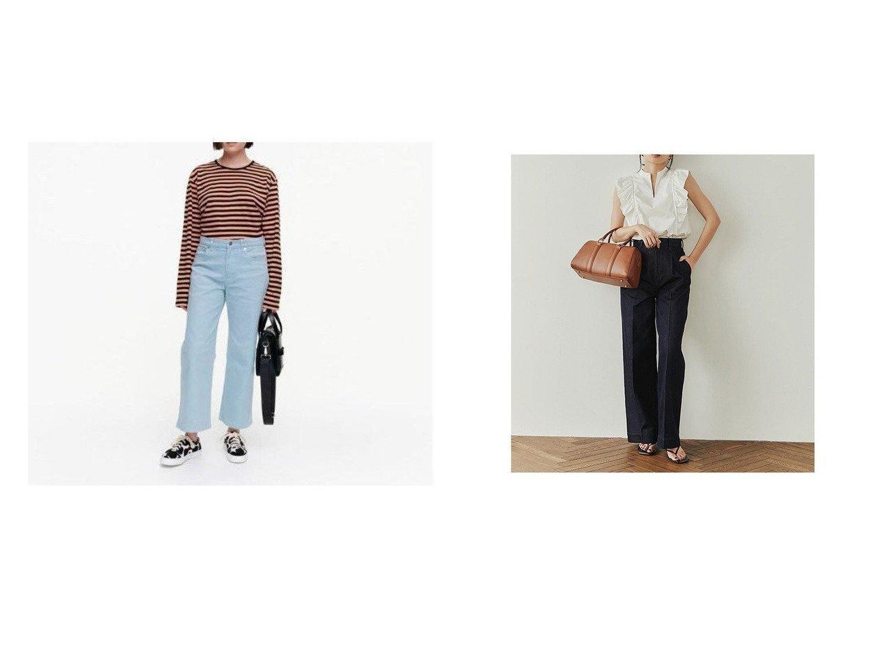 【anuans/アニュアンス】のタックワイドデニムパンツ&【marimekko/マリメッコ】のHopeatapla solid パンツ おすすめ!人気、トレンド・レディースファッションの通販 おすすめで人気の流行・トレンド、ファッションの通販商品 インテリア・家具・メンズファッション・キッズファッション・レディースファッション・服の通販 founy(ファニー) https://founy.com/ ファッション Fashion レディースファッション WOMEN パンツ Pants デニムパンツ Denim Pants おすすめ Recommend カットソー チュニック デニム ポケット リラックス ワイド 定番 Standard インディゴ センター |ID:crp329100000060413
