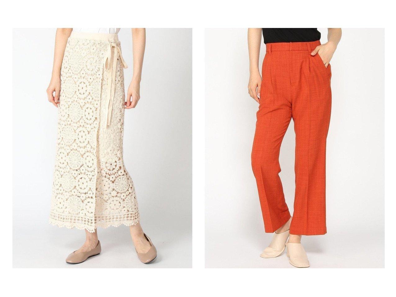 【LOWRYS FARM/ローリーズファーム】のドライタッチフレアパンツ&ラップフウクロシェスカート おすすめ!人気、トレンド・レディースファッションの通販 おすすめで人気の流行・トレンド、ファッションの通販商品 インテリア・家具・メンズファッション・キッズファッション・レディースファッション・服の通販 founy(ファニー) https://founy.com/ ファッション Fashion レディースファッション WOMEN スカート Skirt パンツ Pants NEW・新作・新着・新入荷 New Arrivals ジーンズ |ID:crp329100000060423