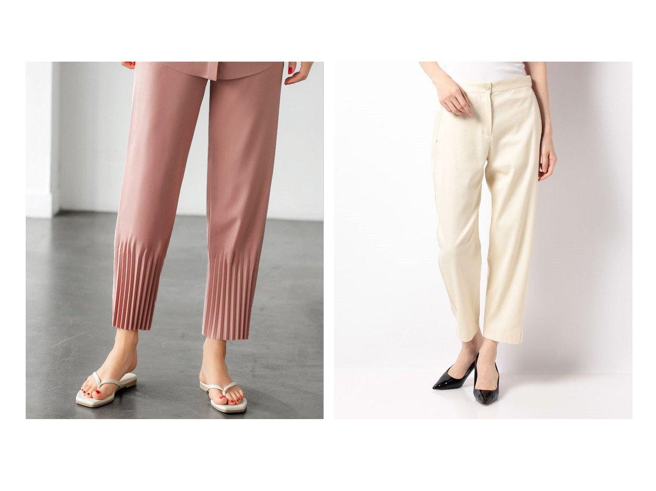 【theory/セオリー】のパンツ DRAPE COTTON TWL CURVE PA&【STYLE DELI/スタイルデリ】のジョーゼット裾プリーツパンツ 【パンツ】おすすめ!人気、トレンド・レディースファッションの通販 おすすめで人気の流行・トレンド、ファッションの通販商品 インテリア・家具・メンズファッション・キッズファッション・レディースファッション・服の通販 founy(ファニー) https://founy.com/ ファッション Fashion レディースファッション WOMEN パンツ Pants クール ジョーゼット スタイリッシュ セットアップ タオル 定番 Standard 人気 パープル フロント プリーツ ポケット 半袖 夏 Summer お家時間・ステイホーム Home Time/Stay Home ストレッチ ドレープ フィット  ID:crp329100000060463