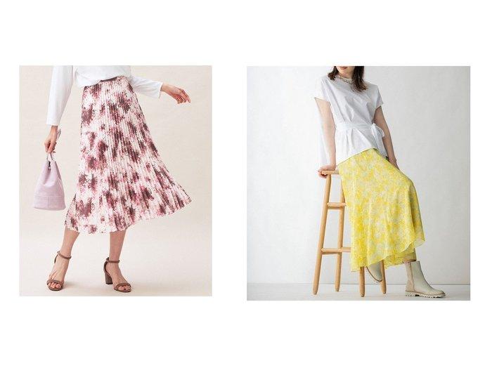 【KUMIKYOKU/組曲】のグラデーションフラワー プリーツスカート&【JIYU-KU/自由区】のドローイングフラワープリント スカート 【スカート】おすすめ!人気、トレンド・レディースファッションの通販 おすすめ人気トレンドファッション通販アイテム インテリア・キッズ・メンズ・レディースファッション・服の通販 founy(ファニー) https://founy.com/ ファッション Fashion レディースファッション WOMEN スカート Skirt プリーツスカート Pleated Skirts ヴィンテージ シフォン シンプル ジョーゼット フランス プリント ペーパー リラックス 送料無料 Free Shipping 2021年 2021 2021-2022秋冬・A/W AW・Autumn/Winter・FW・Fall-Winter・2021-2022 A/W・秋冬 AW・Autumn/Winter・FW・Fall-Winter エレガント グラデーション ドレス ドレープ フェミニン フラワー プリーツ |ID:crp329100000060480