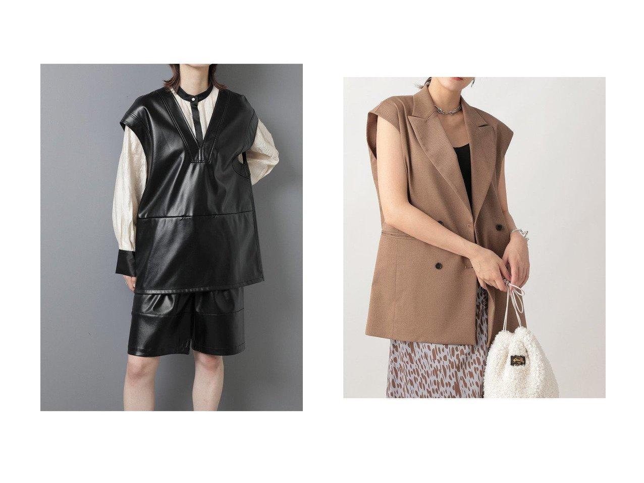 【Ezick/エジック】のカルゼダブルオーバージレ&【ROSE BUD/ローズバッド】のフェイクレザー2wayベスト 【アウター】おすすめ!人気、トレンド・レディースファッションの通販 おすすめで人気の流行・トレンド、ファッションの通販商品 インテリア・家具・メンズファッション・キッズファッション・レディースファッション・服の通販 founy(ファニー) https://founy.com/ ファッション Fashion レディースファッション WOMEN アウター Coat Outerwear ジャケット Jackets 2020年 2020 2020-2021秋冬・A/W AW・Autumn/Winter・FW・Fall-Winter/2020-2021 2021年 2021 2021-2022秋冬・A/W AW・Autumn/Winter・FW・Fall-Winter・2021-2022 A/W・秋冬 AW・Autumn/Winter・FW・Fall-Winter おすすめ Recommend ジャケット セットアップ フェイクレザー ベスト ポケット ルーズ 羽織 インナー トレンド 夏 Summer 秋 Autumn/Fall |ID:crp329100000060546