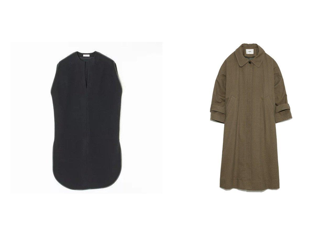 【SACRA/サクラ】のカフタンベスト/WOOL PILE&【FURFUR/ファーファー】のロングステンカラーコート 【アウター】おすすめ!人気、トレンド・レディースファッションの通販 おすすめで人気の流行・トレンド、ファッションの通販商品 インテリア・家具・メンズファッション・キッズファッション・レディースファッション・服の通販 founy(ファニー) https://founy.com/ ファッション Fashion レディースファッション WOMEN アウター Coat Outerwear コート Coats スキッパー スリット トリミング ノースリーブ パイピング フォルム ベスト 2021年 2021 2021-2022秋冬・A/W AW・Autumn/Winter・FW・Fall-Winter・2021-2022 A/W・秋冬 AW・Autumn/Winter・FW・Fall-Winter スマート フリル マニッシュ ヨーク リラックス ロング |ID:crp329100000060551