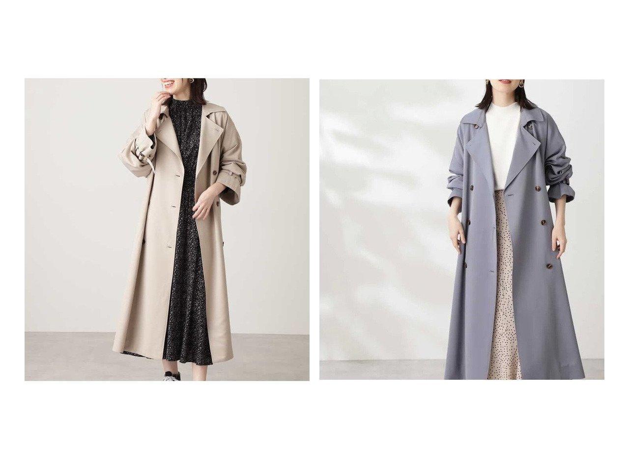 【N.Natural Beauty basic/エヌ ナチュラルビューティーベーシック】の《WEB限定商品》オーバーサイズトレンチコート 【アウター】おすすめ!人気、トレンド・レディースファッションの通販 おすすめで人気の流行・トレンド、ファッションの通販商品 インテリア・家具・メンズファッション・キッズファッション・レディースファッション・服の通販 founy(ファニー) https://founy.com/ ファッション Fashion レディースファッション WOMEN アウター Coat Outerwear コート Coats トレンチコート Trench Coats ショルダー シンプル ドロップ ヨーク リボン |ID:crp329100000060564