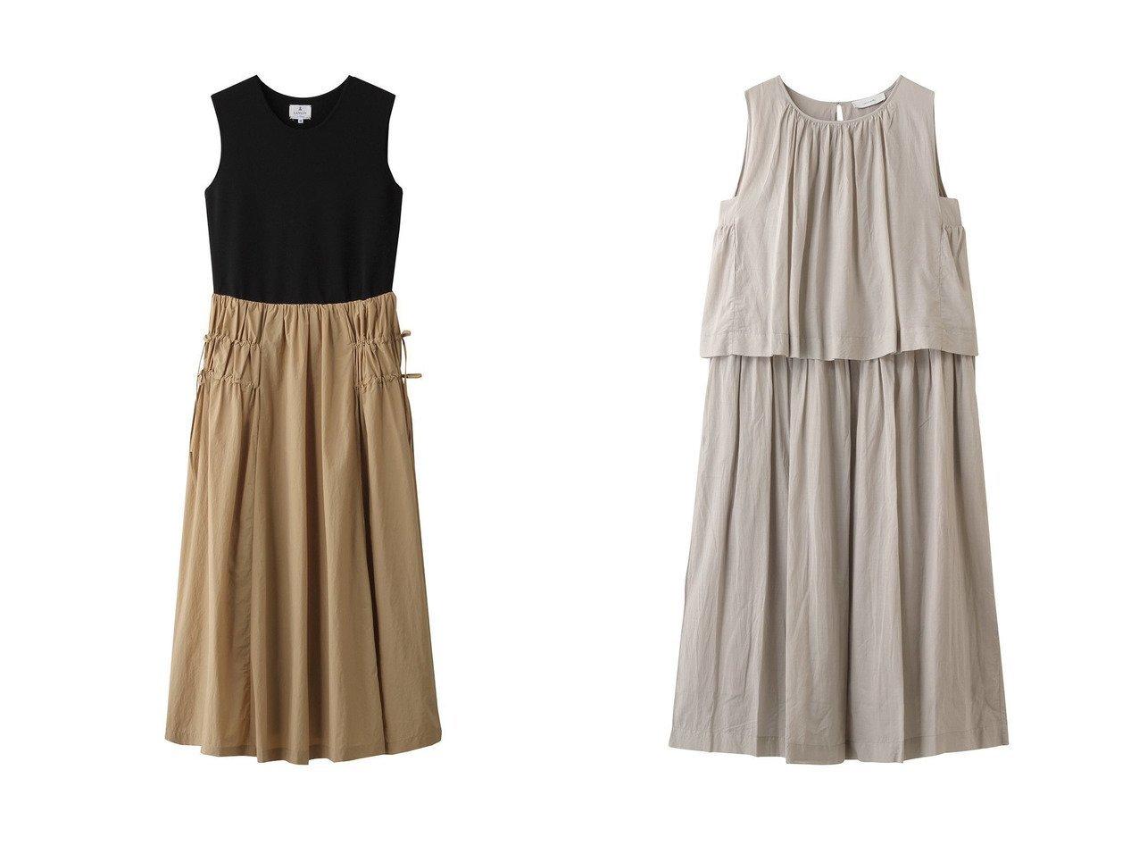 【LANVIN en Bleu/ランバン オン ブルー】のニットコンビナイロンワンピース&【normment/ノーメント】のレイヤードドレス 【ワンピース・ドレス】おすすめ!人気、トレンド・レディースファッションの通販 おすすめで人気の流行・トレンド、ファッションの通販商品 インテリア・家具・メンズファッション・キッズファッション・レディースファッション・服の通販 founy(ファニー) https://founy.com/ ファッション Fashion レディースファッション WOMEN ワンピース Dress チュニック Tunic ドレス Party Dresses 2020年 2020 2020-2021秋冬・A/W AW・Autumn/Winter・FW・Fall-Winter/2020-2021 2021年 2021 2021-2022秋冬・A/W AW・Autumn/Winter・FW・Fall-Winter・2021-2022 A/W・秋冬 AW・Autumn/Winter・FW・Fall-Winter コンビ チュニック ドッキング ノースリーブ リボン ロング ギャザー セットアップ  ID:crp329100000060590