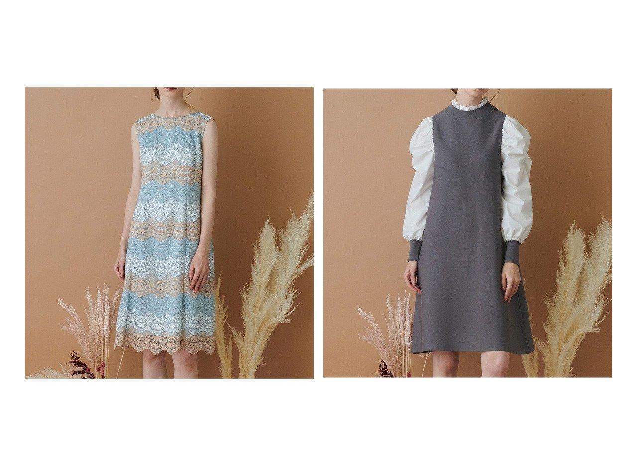 【TOCCA/トッカ】の【TOCCA LAVENDER】Ripple Lace Dress ドレス&【TOCCA LAVENDER】Retro Puff Knit Dress ニットドレス 【ワンピース・ドレス】おすすめ!人気、トレンド・レディースファッションの通販 おすすめで人気の流行・トレンド、ファッションの通販商品 インテリア・家具・メンズファッション・キッズファッション・レディースファッション・服の通販 founy(ファニー) https://founy.com/ ファッション Fashion レディースファッション WOMEN ワンピース Dress ドレス Party Dresses ニットワンピース Knit Dresses 送料無料 Free Shipping ドレス  ID:crp329100000060606