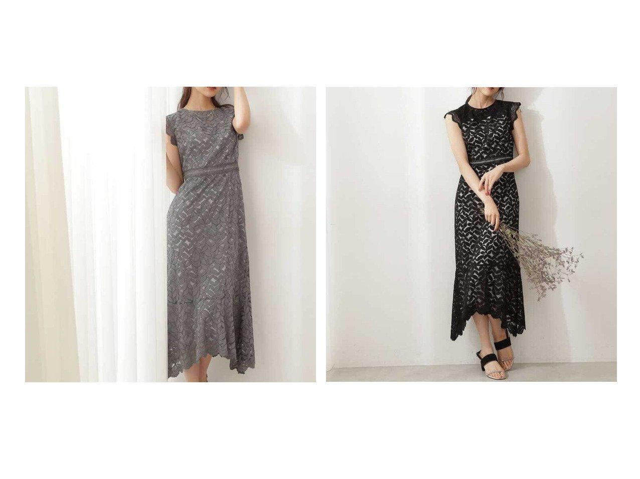 【PROPORTION BODY DRESSING/プロポーション ボディドレッシング】の《Lou Lou Fee》レースタイトドレス 【ワンピース・ドレス】おすすめ!人気、トレンド・レディースファッションの通販 おすすめで人気の流行・トレンド、ファッションの通販商品 インテリア・家具・メンズファッション・キッズファッション・レディースファッション・服の通販 founy(ファニー) https://founy.com/ ファッション Fashion レディースファッション WOMEN ワンピース Dress ドレス Party Dresses おすすめ Recommend ショルダー ドレス フリル マーメイド ワーク  ID:crp329100000060612