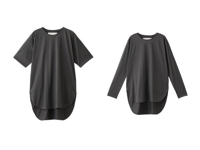 【ADAWAS/アダワス】のラウンドヘムジャージTシャツ&ロングスリーブラウンドヘムジャージーTシャツ 【トップス・カットソー】おすすめ!人気、トレンド・レディースファッションの通販 おすすめ人気トレンドファッション通販アイテム インテリア・キッズ・メンズ・レディースファッション・服の通販 founy(ファニー) https://founy.com/ ファッション Fashion レディースファッション WOMEN トップス・カットソー Tops/Tshirt シャツ/ブラウス Shirts/Blouses ロング / Tシャツ T-Shirts カットソー Cut and Sewn 2020年 2020 2020-2021秋冬・A/W AW・Autumn/Winter・FW・Fall-Winter/2020-2021 2021年 2021 2021-2022秋冬・A/W AW・Autumn/Winter・FW・Fall-Winter・2021-2022 A/W・秋冬 AW・Autumn/Winter・FW・Fall-Winter ショート シルケット シンプル スリーブ ベーシック 半袖 定番 Standard ロング  ID:crp329100000060616