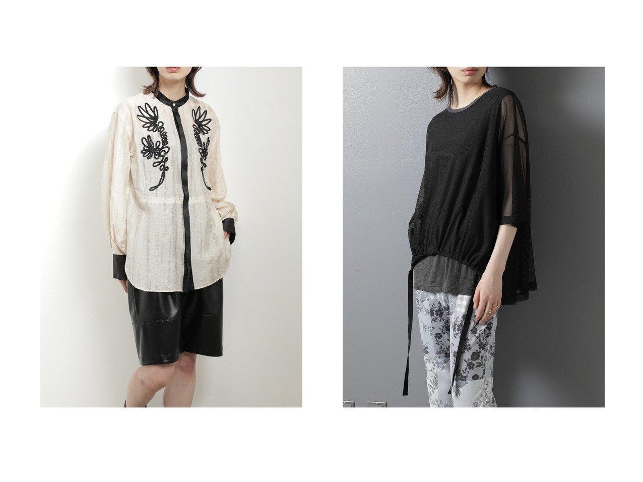 【ROSE BUD/ローズバッド】の袖ボリュームメッシュカットソー&コード刺繍ブラウス 【トップス・カットソー】おすすめ!人気、トレンド・レディースファッションの通販 おすすめで人気の流行・トレンド、ファッションの通販商品 インテリア・家具・メンズファッション・キッズファッション・レディースファッション・服の通販 founy(ファニー) https://founy.com/ ファッション Fashion レディースファッション WOMEN トップス・カットソー Tops/Tshirt シャツ/ブラウス Shirts/Blouses ロング / Tシャツ T-Shirts カットソー Cut and Sewn 2020年 2020 2020-2021秋冬・A/W AW・Autumn/Winter・FW・Fall-Winter/2020-2021 2021年 2021 2021-2022秋冬・A/W AW・Autumn/Winter・FW・Fall-Winter・2021-2022 A/W・秋冬 AW・Autumn/Winter・FW・Fall-Winter おすすめ Recommend シアー ジャケット スリーブ モノトーン ロング カットソー ショート シンプル ノースリーブ ボトム メッシュ  ID:crp329100000060618