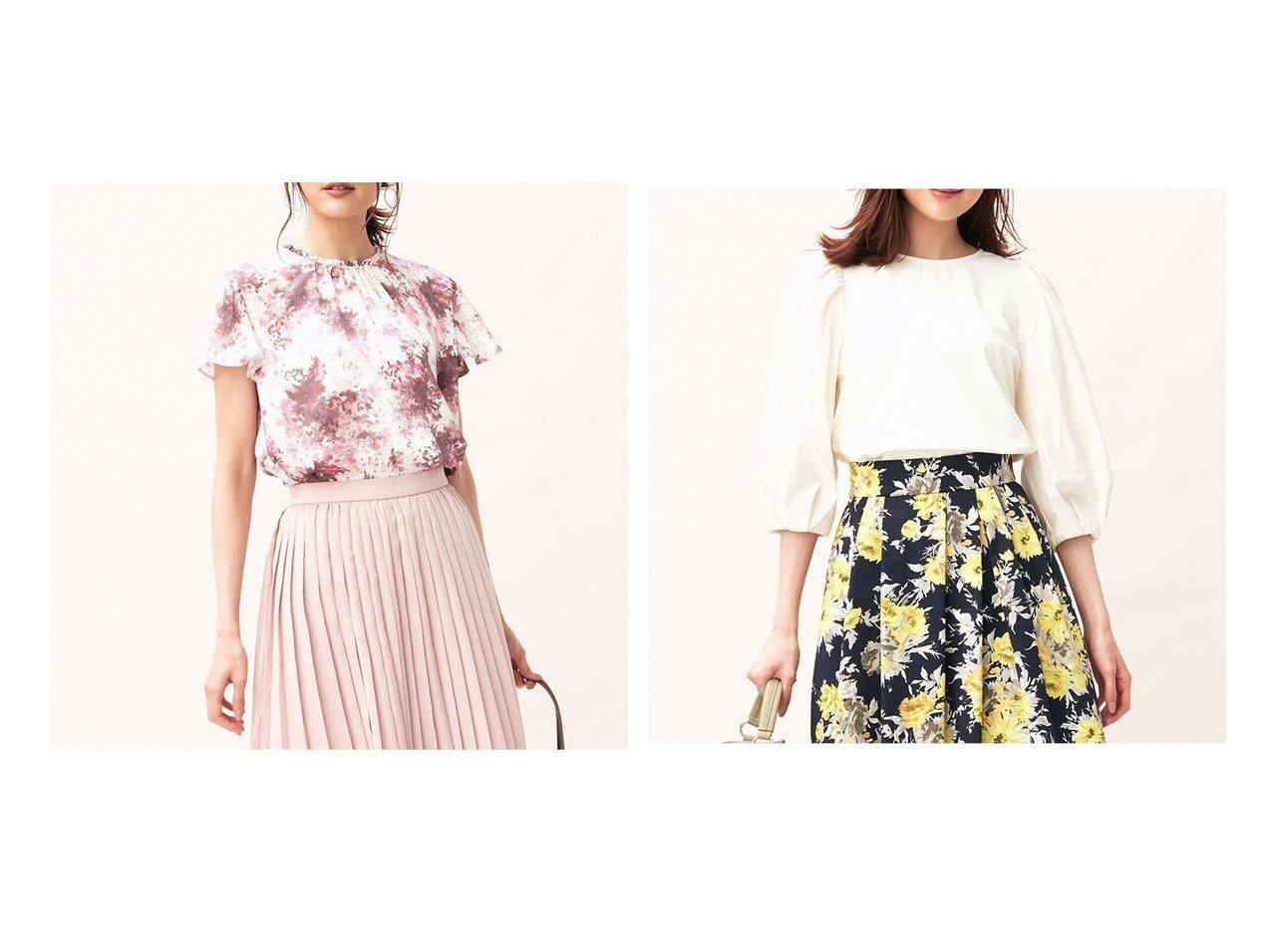 【KUMIKYOKU/組曲】のグラデーションフラワー2WAY ブラウス&ボリュームスリーブドッキングプルオーバー 【トップス・カットソー】おすすめ!人気、トレンド・レディースファッションの通販 おすすめで人気の流行・トレンド、ファッションの通販商品 インテリア・家具・メンズファッション・キッズファッション・レディースファッション・服の通販 founy(ファニー) https://founy.com/ ファッション Fashion レディースファッション WOMEN トップス・カットソー Tops/Tshirt シャツ/ブラウス Shirts/Blouses ロング / Tシャツ T-Shirts プルオーバー Pullover カットソー Cut and Sewn ボリュームスリーブ / フリル袖 Volume Sleeve 送料無料 Free Shipping 2021年 2021 2021-2022秋冬・A/W AW・Autumn/Winter・FW・Fall-Winter・2021-2022 A/W・秋冬 AW・Autumn/Winter・FW・Fall-Winter ギャザー グラデーション セットアップ ドレス ドレープ フラワー ペプラム リボン カットソー シンプル ストレッチ ボトム おすすめ Recommend  ID:crp329100000060627