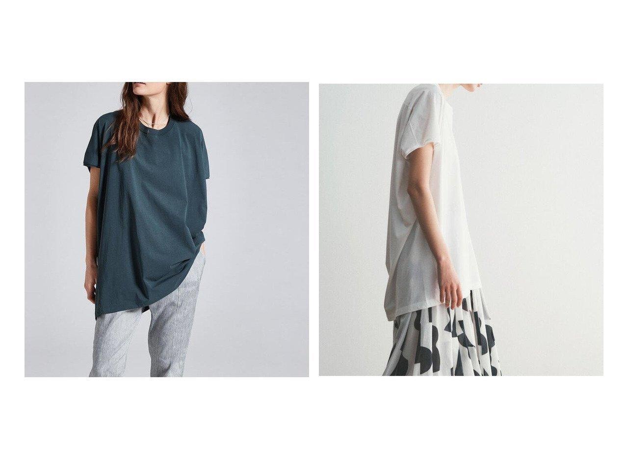 【DES PRES / TOMORROWLAND/デプレ】のソフトプレーンジャージー クルーネックプルオーバー 【トップス・カットソー】おすすめ!人気、トレンド・レディースファッションの通販 おすすめで人気の流行・トレンド、ファッションの通販商品 インテリア・家具・メンズファッション・キッズファッション・レディースファッション・服の通販 founy(ファニー) https://founy.com/ ファッション Fashion レディースファッション WOMEN トップス・カットソー Tops/Tshirt シャツ/ブラウス Shirts/Blouses ロング / Tシャツ T-Shirts プルオーバー Pullover カットソー Cut and Sewn 2021年 2021 2021春夏・S/S SS/Spring/Summer/2021 S/S・春夏 SS・Spring/Summer おすすめ Recommend シンプル ジャージー スリム ドレープ パターン ヘムライン リラックス 吸水 夏 Summer  ID:crp329100000060643