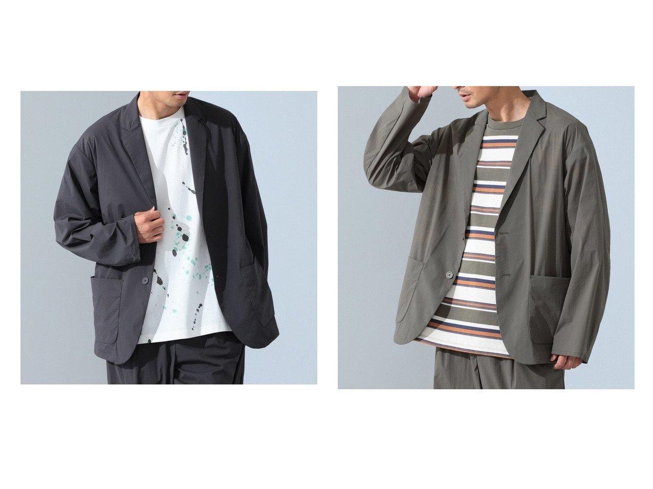 【B:MING by BEAMS / MEN/ビーミング バイ ビームス】のストレッチナイロン イージージャケット(セットアップ対応) 【MEN】おすすめ!人気トレンド・男性、メンズファッションの通販   おすすめで人気の流行・トレンド、ファッションの通販商品 インテリア・家具・メンズファッション・キッズファッション・レディースファッション・服の通販 founy(ファニー) https://founy.com/ ファッション Fashion メンズファッション MEN セットアップ Setup/Men ショルダー ジャケット ストレッチ セットアップ トレンド ドロップ バランス パッチ ファブリック フロント ポケット リップ リラックス 人気 軽量  ID:crp329100000060719