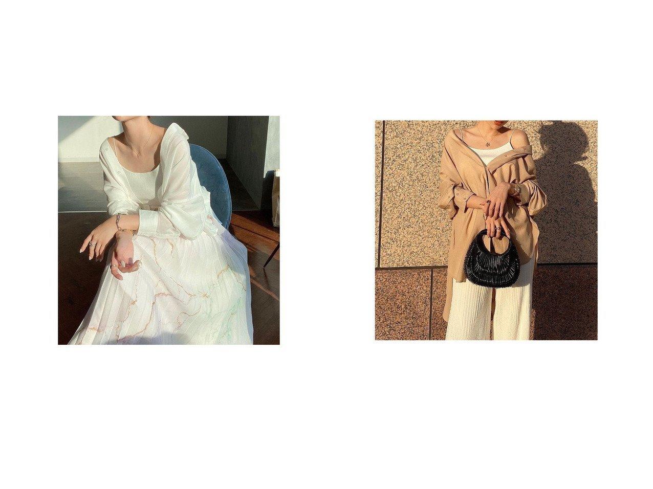 【eimy istoire/エイミーイストワール】のバックオープンビッグシャツ&Oil ink art シアープリーツスカート おすすめ!人気、トレンド・レディースファッションの通販 おすすめで人気の流行・トレンド、ファッションの通販商品 インテリア・家具・メンズファッション・キッズファッション・レディースファッション・服の通販 founy(ファニー) https://founy.com/ ファッション Fashion レディースファッション WOMEN スカート Skirt プリーツスカート Pleated Skirts トップス・カットソー Tops/Tshirt シャツ/ブラウス Shirts/Blouses バッグ Bag エアリー シアー シンプル プリント プリーツ オフショルダー スリット スリーブ ビッグ 夏 Summer 羽織 |ID:crp329100000060781