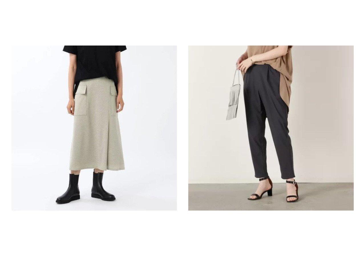 【NOLLEY'S sophi/ノーリーズソフィー】のトリコットタックパンツ&【UNTITLED/アンタイトル】のカーゴスカート 【パンツ】おすすめ!人気、トレンド・レディースファッションの通販 おすすめで人気の流行・トレンド、ファッションの通販商品 インテリア・家具・メンズファッション・キッズファッション・レディースファッション・服の通販 founy(ファニー) https://founy.com/ ファッション Fashion レディースファッション WOMEN スカート Skirt パンツ Pants カーゴパンツ トレンド ポケット ミリタリー リラックス ワーク おすすめ Recommend なめらか ジャケット ストレッチ セットアップ 軽量 |ID:crp329100000060846