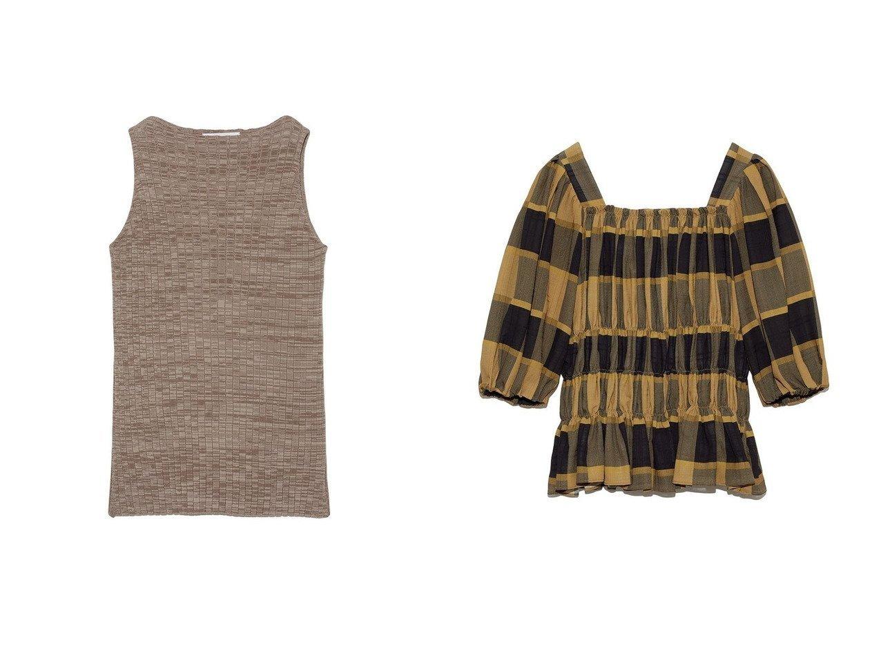 【Mila Owen/ミラオーウェン】のスクエアネックボリュームスリーブブラウス&アメスリリブタンクトップ ファッション雑誌・Webマガジン掲載、おすすめ!人気、トレンド・レディースファッションの通販 おすすめで人気の流行・トレンド、ファッションの通販商品 インテリア・家具・メンズファッション・キッズファッション・レディースファッション・服の通販 founy(ファニー) https://founy.com/ 雑誌掲載アイテム Magazine Items ファッション雑誌 Fashion Magazines ビジンヒャッカ 美人百花 ウィズ with ファッション Fashion レディースファッション WOMEN トップス・カットソー Tops/Tshirt ニット Knit Tops シャツ/ブラウス Shirts/Blouses ボリュームスリーブ / フリル袖 Volume Sleeve 7月号 アメリカン インナー スリーブ パープル ベーシック 今季 雑誌 |ID:crp329100000060890