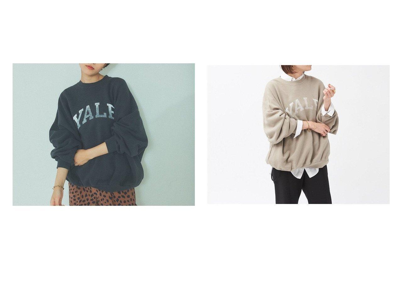 【Rouge vif la cle/ルージュヴィフラクレ】の【レミレリーフ】別注YALEスウェット 別注・限定・コラボなど、おすすめ!人気、トレンド・レディースファッションの通販 おすすめで人気の流行・トレンド、ファッションの通販商品 インテリア・家具・メンズファッション・キッズファッション・レディースファッション・服の通販 founy(ファニー) https://founy.com/ ファッション Fashion レディースファッション WOMEN トップス・カットソー Tops/Tshirt パーカ Sweats スウェット Sweat カットソー Cut and Sewn アメリカン カットソー サテン スウェット プリント ベーシック 別注 マキシ おすすめ Recommend  ID:crp329100000060959