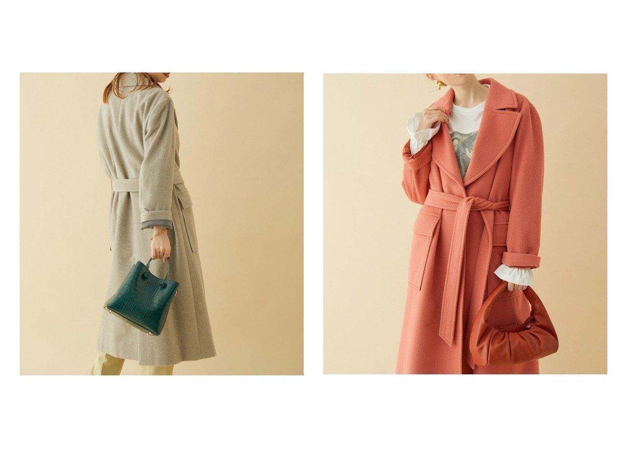 【ROPE' mademoiselle/ロペ マドモアゼル】のペコラムビッグカラーコート 別注・限定・コラボなど、おすすめ!人気、トレンド・レディースファッションの通販 おすすめで人気の流行・トレンド、ファッションの通販商品 インテリア・家具・メンズファッション・キッズファッション・レディースファッション・服の通販 founy(ファニー) https://founy.com/ ファッション Fashion レディースファッション WOMEN アウター Coat Outerwear コート Coats ジャケット Jackets チェスターコート Top Coat オレンジ ジャケット チェスターコート デニム トレンド 定番 Standard フェミニン ポケット 別注 レース 冬 Winter おすすめ Recommend  ID:crp329100000060972