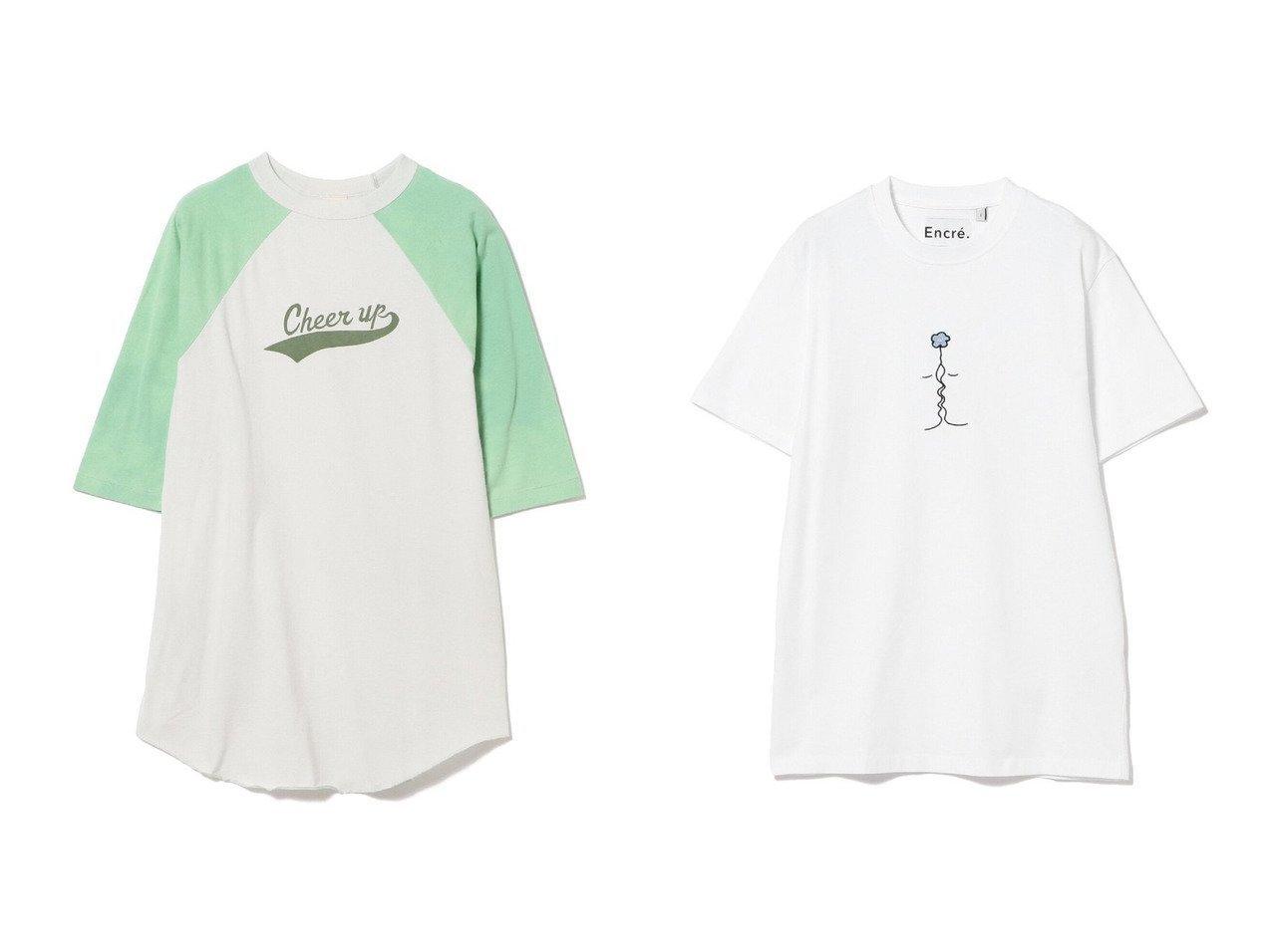 【Ray BEAMS/レイ ビームス】のEncre. 別注 Lunion Tシャツ&別注 チア- アップ Tシャツ 別注・限定・コラボなど、おすすめ!人気、トレンド・レディースファッションの通販 おすすめで人気の流行・トレンド、ファッションの通販商品 インテリア・家具・メンズファッション・キッズファッション・レディースファッション・服の通販 founy(ファニー) https://founy.com/ ファッション Fashion レディースファッション WOMEN トップス・カットソー Tops/Tshirt シャツ/ブラウス Shirts/Blouses ロング / Tシャツ T-Shirts カットソー Cut and Sewn NEW・新作・新着・新入荷 New Arrivals ウォッシュ カットソー チュニック ユーズド ワーク 別注  ID:crp329100000060983