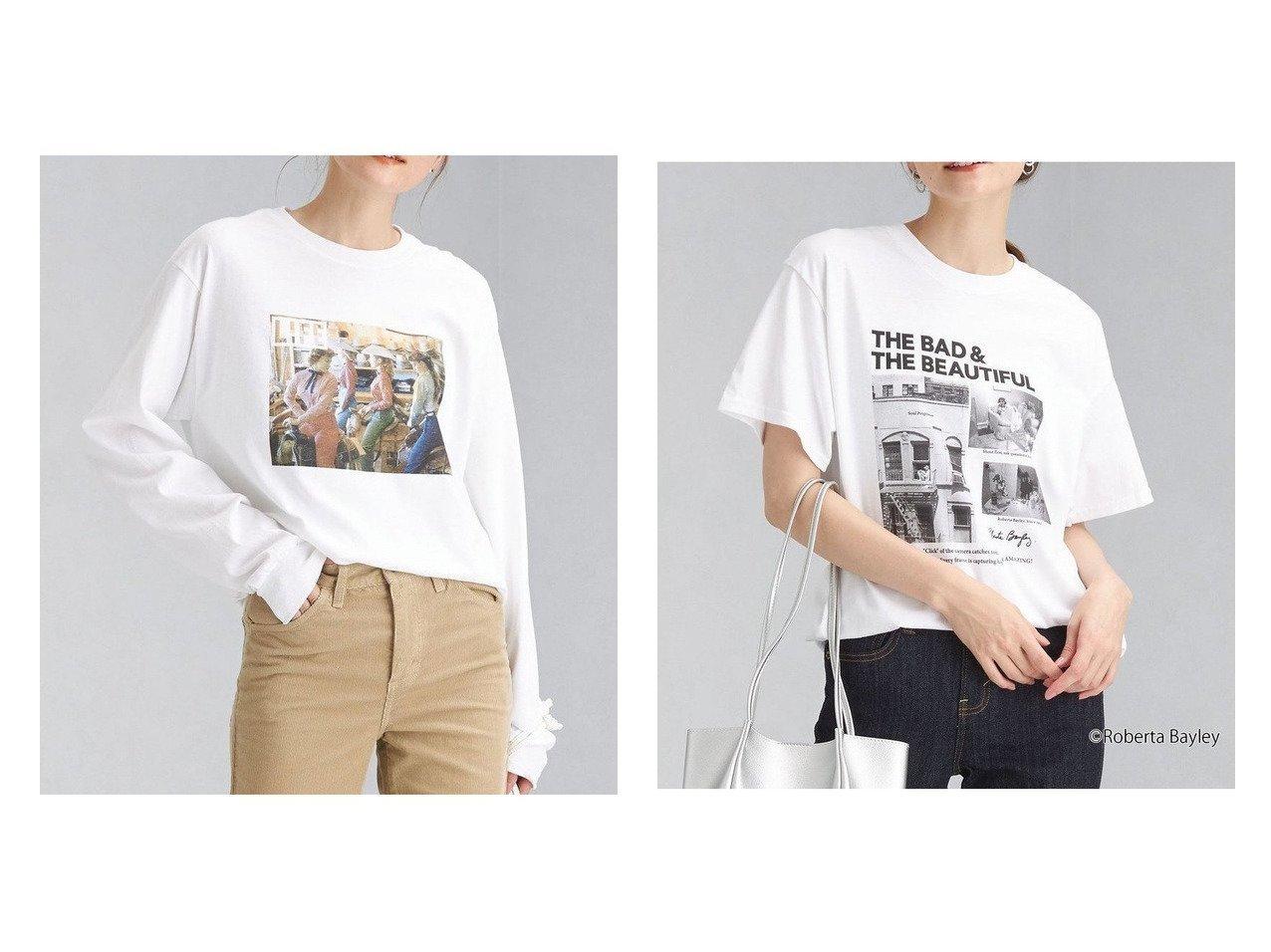 【green label relaxing / UNITED ARROWS/グリーンレーベル リラクシング / ユナイテッドアローズ】の【別注】 GOOD ROCK SPEED ROBERTA BAYLEY ショートスリーブ Tシャツ&【別注】 GOOD ROCK SPEED LIFE ロングスリーブ フォト Tシャツ カットソー 別注・限定・コラボなど、おすすめ!人気、トレンド・レディースファッションの通販 おすすめで人気の流行・トレンド、ファッションの通販商品 インテリア・家具・メンズファッション・キッズファッション・レディースファッション・服の通販 founy(ファニー) https://founy.com/ ファッション Fashion レディースファッション WOMEN トップス・カットソー Tops/Tshirt シャツ/ブラウス Shirts/Blouses ロング / Tシャツ T-Shirts カットソー Cut and Sewn インナー ヴィンテージ カットソー スペシャル スリーブ 雑誌 プリント 別注 モノトーン ロング NEW・新作・新着・新入荷 New Arrivals グラフィック ショート ニューヨーク 人気 フロント メッシュ おすすめ Recommend |ID:crp329100000061005