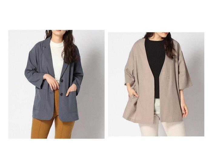 【GLOBAL WORK/グローバルワーク】のノーカラーシャツジャケット6S&【JEANASiS/ジーナシス】のソデフレア2WテーラーJK おすすめ!人気、トレンド・レディースファッションの通販 おすすめ人気トレンドファッション通販アイテム 人気、トレンドファッション・服の通販 founy(ファニー) ファッション Fashion レディースファッション WOMEN アウター Coat Outerwear コート Coats ジャケット Jackets テーラードジャケット Tailored Jackets ノーカラージャケット No Collar Leather Jackets NEW・新作・新着・新入荷 New Arrivals ジャケット |ID:crp329100000061044