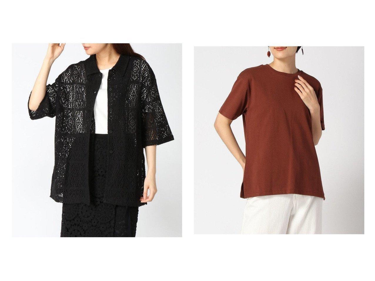 【niko and…/ニコアンド】のUSAヒンヤリUVBASICT&【LOWRYS FARM/ローリーズファーム】のコットンスクエアレースシャツSS おすすめ!人気、トレンド・レディースファッションの通販 おすすめで人気の流行・トレンド、ファッションの通販商品 インテリア・家具・メンズファッション・キッズファッション・レディースファッション・服の通販 founy(ファニー) https://founy.com/ ファッション Fashion レディースファッション WOMEN トップス・カットソー Tops/Tshirt シャツ/ブラウス Shirts/Blouses アウター Coat Outerwear ロング / Tシャツ T-Shirts カットソー Cut and Sewn S/S・春夏 SS・Spring/Summer おすすめ Recommend デニム レース 半袖 カットソー 吸水 サロペ 定番 Standard ベーシック モノトーン 冬 Winter 夏 Summer  ID:crp329100000061054