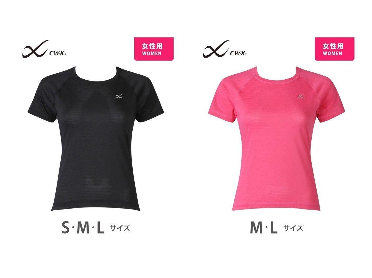 【CW-X/シーダブリューエックス】のCW-X Tシャツ 半袖 吸汗速乾 UV(M・L・LL)レディース おすすめ!人気、トレンド・レディースファッションの通販 おすすめで人気の流行・トレンド、ファッションの通販商品 インテリア・家具・メンズファッション・キッズファッション・レディースファッション・服の通販 founy(ファニー) https://founy.com/ ファッション Fashion レディースファッション WOMEN トップス・カットソー Tops/Tshirt シャツ/ブラウス Shirts/Blouses ロング / Tシャツ T-Shirts カットソー Cut and Sewn カットソー 半袖  ID:crp329100000061079