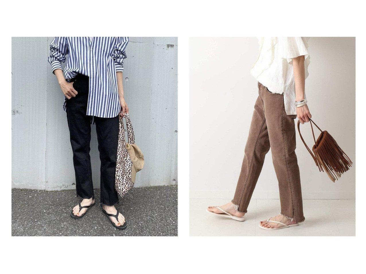 【FRAMeWORK/フレームワーク】の裾スリット デニムクロップドパンツ 【パンツ】おすすめ!人気、トレンド・レディースファッションの通販 おすすめで人気の流行・トレンド、ファッションの通販商品 インテリア・家具・メンズファッション・キッズファッション・レディースファッション・服の通販 founy(ファニー) https://founy.com/ ファッション Fashion レディースファッション WOMEN パンツ Pants クロップド シューズ ジーンズ ストレッチ スリット デニム 人気 バランス 2021年 2021 S/S・春夏 SS・Spring/Summer 2021春夏・S/S SS/Spring/Summer/2021  ID:crp329100000061120